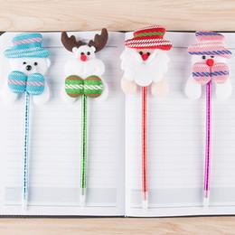 $enCountryForm.capitalKeyWord NZ - 1pcs Cute Christmas Stationery Supplies Fashion Kawaii Santa Claus Ballpoint Pens For Kids Christmas Birthday Gifts