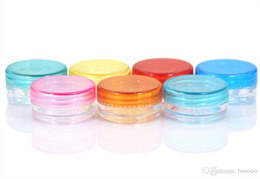 Cream Powders Australia - 10000 pieces lot 2g mini sample refillable cosmetic cream jar empty powder jar 2g lip blam jar