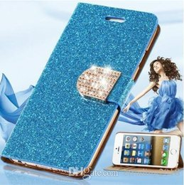 Hot Sales Iphone Case NZ - For iphone xs xmas Hot Sale Glitter Bling PU Leather Women Wallet Case for IPhone 7 7 Plus 6 6s 6 Plus 6s Plus