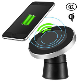 Iphone Car Kits Mounts NZ - Wireless Car Charger for Cell Phone QI Magnetic Charging Kit USB Fast Charger Mount Stand Pad Station iPhone 8 8 Plus X Samsung S8 Note 8