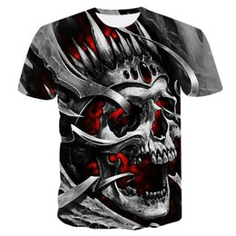 db4660f4 Man Tshirt Skull UK - Metal skull tshirt Men t shirt 3d t-shirt Casual