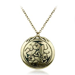White Bear Charms Australia - Fashion Antique Viking Three Bears Pendants Necklaces Bronze & Silver Color Enamel Charm Christmas Gifts Women Jewelry Necklaces