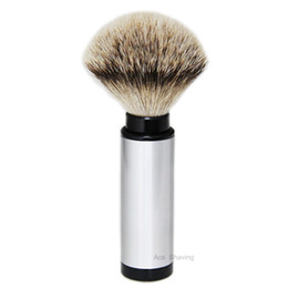 $enCountryForm.capitalKeyWord UK - Stainless Aluminium Tube Silvertip Badger Hair Travel Shaving Brush Man Gift Barber Moustache Face Clean