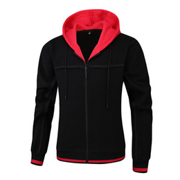full zip jacket polyester Australia - Mens Full Zip Hooded Performance Fleece Jackets with Pockets Soft Polar Fleece Coat jacket Long Sleeve hoodie for Fall Winter Outdoor