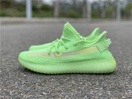 Shoes Glow Dark Women Australia - New 2019 Authentic Kanye West 350S V2 EG5293 Glow In The Dark EG5293 Primeknit Men Women Running Shoes Sports Sneakers Designer Trainers