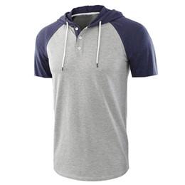 $enCountryForm.capitalKeyWord UK - 2019Cross-border exploding t shirt European and American men's large size short-sleeved hooded sports custom t-shirt manufacturers wholesale