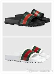 Top shoes designer brands online shopping - With box Italy Brand Slippers Designer Sandals Slides Luxury Top Brand Designer Shoes Animal Design Huaraches Flip Flops Loafers Sneakers