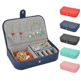 Box Jewelry Storage Organizer Black Australia - Women Portable Faux Leather Necklace Earrings Jewelry Storage Organizer Box Case