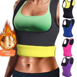 0be39c4377 Women Body Shaper Slim Belt Neoprene Hot Sweat Slimming Shirt Waist Trainer  Corset Vest Tummy Control Body Shaper for Weight Loss