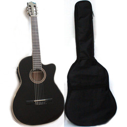 black color guitar Canada - Musoo classic guitar with 4brand EQ thin body with gig bag in black color