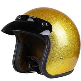 Vintage Motorcycle Helmet Xxl Australia - motorcycle helmet jet open face helmet Captain star cascos para moto vintage harley pilot cafe racer helm summer