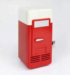 $enCountryForm.capitalKeyWord Australia - New 2 In 1 Desktop Mini Fridge USB Gadget Beverage Cans Cooler Warmer Refrigerator With Internal LED Light Car Use Mini Fridge Free DHL