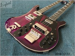 $enCountryForm.capitalKeyWord NZ - Wholesale- customized electric guitar see thru purple,neck thru 5pcs wood maple necks,chrome parts,tigerflame body top,free shipping!
