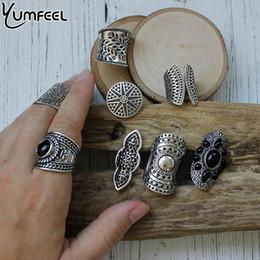 $enCountryForm.capitalKeyWord Australia - boho rings Yumfeel New Bohemia Vintage Boho Rings Mixed Lot Tibetan Silver Plated Ring 8pcs Lot Bohemian Ring Women Vintage Jewelry