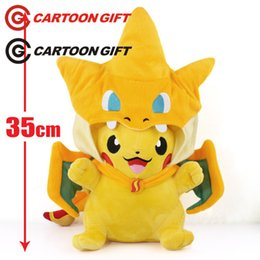 $enCountryForm.capitalKeyWord Australia - Plush Toys Pikachu Stuffed Animal New Hot 35cm Pikachu Cos Charmander Plush Toys Soft Stuffed Doll Christmas Gift