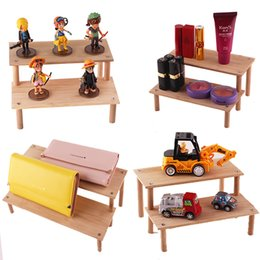 Frames Toys NZ - Wooden cosmetics storage rack removable Cartoon ladder frame holder toy car model purse perfume display stand makeup