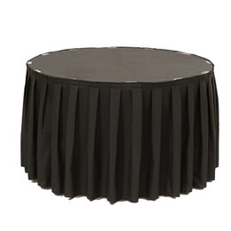 Polyester Table Skirting Australia - Polyester Table Skirt Tableware Cloth Table Skirting With Metal Clips For Wedding Hotel Banquet Birthday Decoration