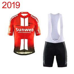 China 2019 New Pro Team SUNWEB cycling clothing summer cycling Jersey bib shorts suit quick dry mountain bike clothing ropa ciclismo Y030607 cheap jersey pro suppliers