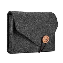 $enCountryForm.capitalKeyWord UK - wholesale New Felt Pouch Power Bank Bag For Data Cable Mouse Travel Organizer Cosmetic Cases Makeup Bags for