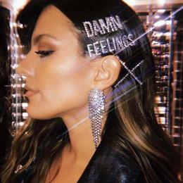 $enCountryForm.capitalKeyWord Australia - Silver Shine Crystal Rhinestone Barrettes Sexy Letter Hair Clips Jewelry Luxury Rhinestone Hairpins For Women Hair Accessories