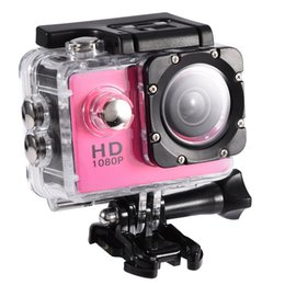Outdoor Professional Sporting Camcorder Australia - Action Camera 4K Waterproof 30m Outdoor Sports Video DV Camera 1080P Full HD LCD Mini Camcorder with 900mAh Batteries(PINK)