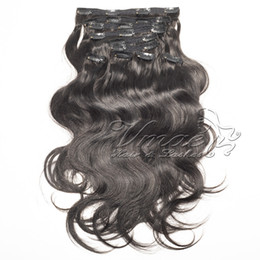$enCountryForm.capitalKeyWord Australia - Mongolian Hair soft touch no tangle Cuticle Aligned Natural Black Peruvian Virgin 22clips 120g Body Wave Clip In Hair Extensions