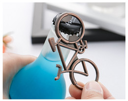 bicycle souvenir UK - Creative Bicycle Metal Beer Bottle Opener Wedding Souvenirs Bicycle Shaped Bottle Opener Birthday Anniversary Gift For Guest RRA2860
