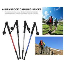 $enCountryForm.capitalKeyWord Australia - Alpenstocks 3-Section Adjustable Aluminum Alloy Canes Ultralight Pole Walking Camping Hiking Trekking Sticks Plastic Handle