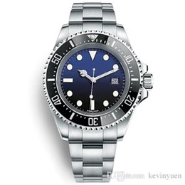 $enCountryForm.capitalKeyWord NZ - Famous Logo BrandOriginal Sapphire Wristwatches Basel Red SEA-DWELLER Stainless Steel 44mm Watch 126600 Automatic Movement Watch Watches