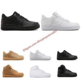 $enCountryForm.capitalKeyWord Australia - New style Arrival Classic one 1 All High and low White black Wheat Casual Shoes for men women Sports sneakers Shoe size 36-45 free shipping