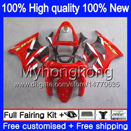 kawasaki zx6r 1999 fairing body Australia - Body For KAWASAKI ZX-6R 6 R ZX-636 ZX600 ZX600CC 1998 1999 Hot red blk 336MY.24 600CC ZX636 ZX6R 98 99 ZX 636 ZX 6R 98 99 Full Fairing