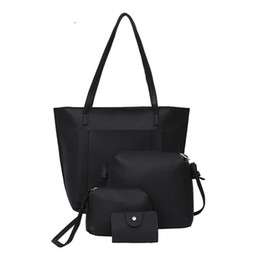 good quality 4pcs set 2019 Top-handbag Big Capacity Female Bag Fashion  Shoulder Bag Purse Ladies Pu Leather Crossbody Bag 889b258b1bcd9