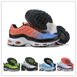 6cb5590ba5 Designer Mens Mercurial TN Plus SE NIC QS Running Shoes scarpe Tns Blue  Gray Black White Chaussures TN Requin Sneakers