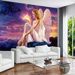 $enCountryForm.capitalKeyWord Australia - Custom Photo Wall Paper 3D Relief Angel Wings Mosaic Wall Mural Painting Luxury Living Room TV Background Home Decor Wallpaper arkadi