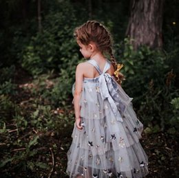 $enCountryForm.capitalKeyWord Australia - Girls lace gauze sequins stars embroidery suspender long dress kids dew shoulder princess dress mommy and daughter matching outfits F7652
