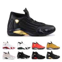 $enCountryForm.capitalKeyWord Australia - Classic 14 14s Candy Cane Black Toe Fusion Varsity Red Suede Men Basketball Shoes Last Shot Thunder Black Yellow DMP Sneakers