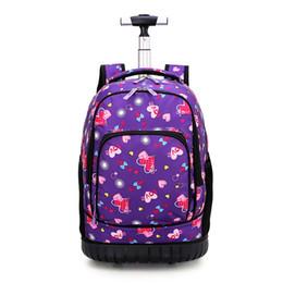 $enCountryForm.capitalKeyWord NZ - Okkid rolling school backpack for girls kids trolley school bag cute love heart printing backpack with wheels dropshipping 2019
