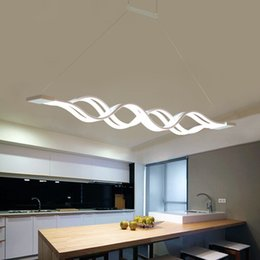 Kitchen Acrylics Australia - Creative modern LED pendant lights Kitchen Acrylic lron suspension hanging ceiling lamp for dinning room lamparas colgantes