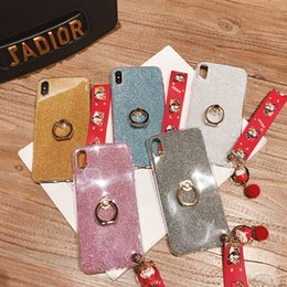 $enCountryForm.capitalKeyWord Australia - Chinese Lucky Cat Hand Chain Bling Diamond Gliter Finger Ring Holder Phone Case Soft TPU Cover For iPhone X Xr Xs Max 8 7 6S Plus