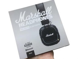 Iphone Ii Australia - Marshall Major II 2.0 Bluetooth Wireless Headphones DJ Headphone Deep Bass Noise Isolating Headset Earphone for Smart Phone Epacket