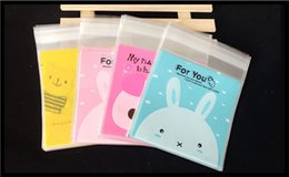 Plastic Pack Biscuits Australia - Cute Rabbit style Biscuits Self Adhesive Seal Plastic Bag Retail Packing Bag Wholesale
