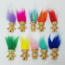 Venda QUENTE Colorido Boneca Troll Cabelo Membros Da Família Pai Mum Bebê Menino Menina Barragens Trolls Toy Presente Feliz Amor Família venda por atacado