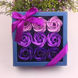 $enCountryForm.capitalKeyWord Australia - 9pcs Creative Rose Flowers Scented Soap Petal Perfumed Smelling Well Wedding Decoration Valentine Best Gifts Roses Flower Soap