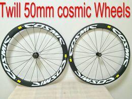 Carbon Coating Australia - Full carbon Twill 50mm Cosmic White 50mm bike wheelsets bike Carbon wheelset , clear coating finish , 50mm tubular 23mm