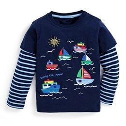 $enCountryForm.capitalKeyWord Australia - Children T-shirt Boys Clothes 2019 Brand Baby Boys Tops & Tees with Animal Appliques Kids Long Sleeve Sweatshirt Boys T shirts