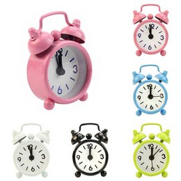 Wholesale New Home Outdoor Mini Dial Number Round Table Alarm Clock Room Decor Gift