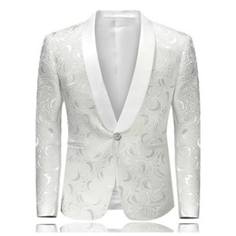 $enCountryForm.capitalKeyWord Australia - Men's Hipster Rose Floral Suit Jacket 2019 Brand New Slim Fit Single Breasted One Button Tuxedo Blazer Jacket Stage Costumes 4XL