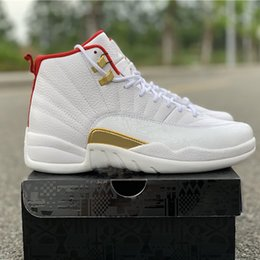 $enCountryForm.capitalKeyWord Australia - 12 XII FIBA Mens 2019 Basketball Shoes Top Quality Brand Designer Sneakers White Gym Red 12s Real Carbon Fiber 130690-107 Size US7.5-13