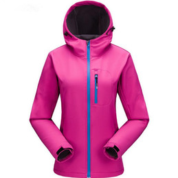 $enCountryForm.capitalKeyWord Australia - Solid color Polyester Stand collar soft shell jacket without hat windproof waterproof fleece inner outdoor mountaineering jacket