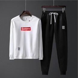 $enCountryForm.capitalKeyWord Australia - Large Size Tracksuit Men Set Letter Sportswear Sweatsuit Male Sweat Track Suit Jacket Hoodie with Pants Mens Sporting Suits